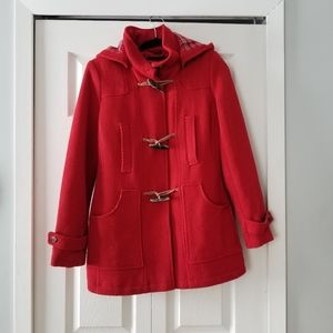 🧥TOMMY HILFIGER RED WOOL COAT